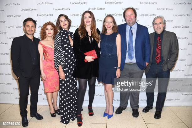 'Mozart in the Jungle' actors Gael Garcia Bernal Bernadette Peters Lola Kirke and Saffron Burrows producer Caroline Baron producer Will Graham...