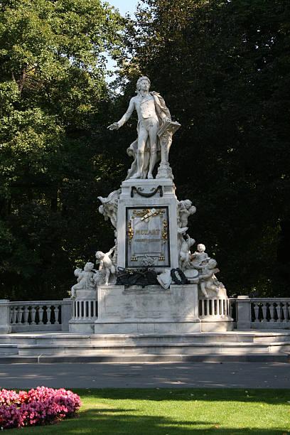 Mozart Monument, Vienna, Austria.