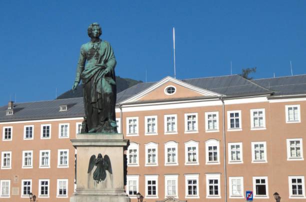 Mozart statue in hometown of Salzburg, Austria