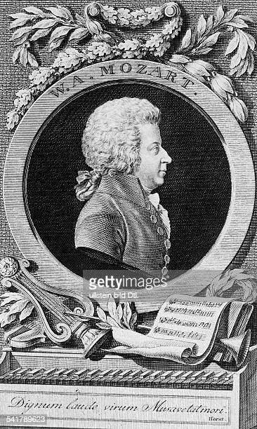 Mozart Wolfgang Amadeus Composer Austria*2701175605121791Portrait as a 12 years old boyengraving by n JG Mansfeld the Younger after a painting by...