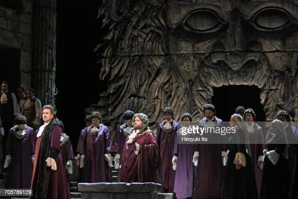 Mozart's 'Idomeneo' at the Metropolitan Opera House on Friday, March 3, 2017. This image: Matthew Polenzani as Idomeneo, left, and Noah Baetge as the...