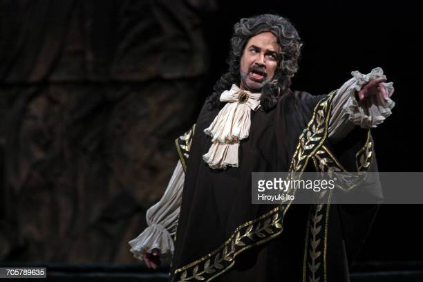 Mozart's 'Idomeneo' at the Metropolitan Opera House on Friday, March 3, 2017. This image: Gregory Schmidt as Arbace. Production by Jean-Pierre...
