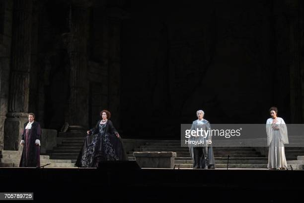 Mozart's 'Idomeneo' at the Metropolitan Opera House on Friday, March 3, 2017. This image: From left, Matthew Polenzani, Elza van den Heever, Alice...
