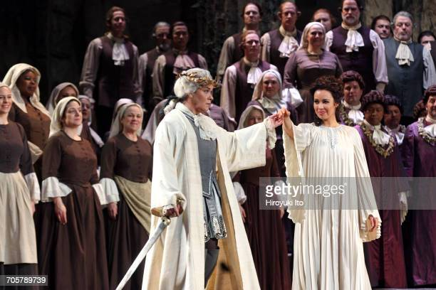 Mozart's 'Idomeneo' at the Metropolitan Opera House on Friday, March 3, 2017. This image: Alice Coote as Idamante, left, and Nadine Sierra as Ilia....