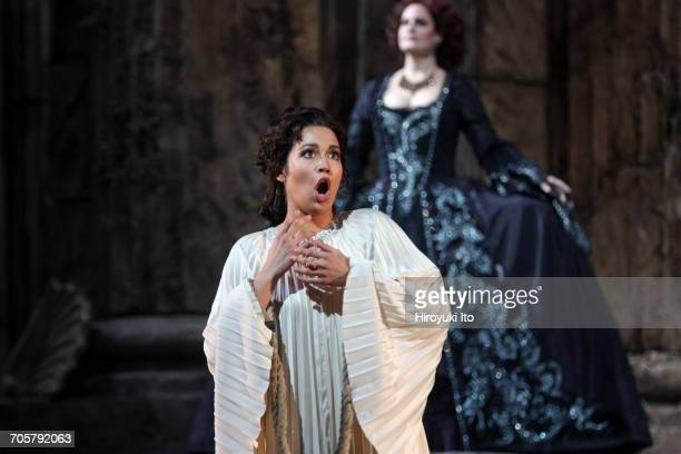 Mozart's 'Idomeneo' at the Metropolitan Opera House on Friday, March 3, 2017. This image: Nadine Sierra as Ilia, left, and Elza van den Heever as...