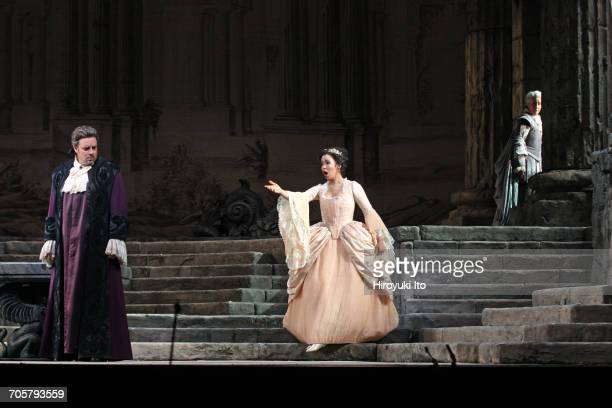 Mozart's 'Idomeneo' at the Metropolitan Opera House on Friday, March 3, 2017. This image: From left, Matthew Polenzani as Idomeneo, Nadine Sierra as...