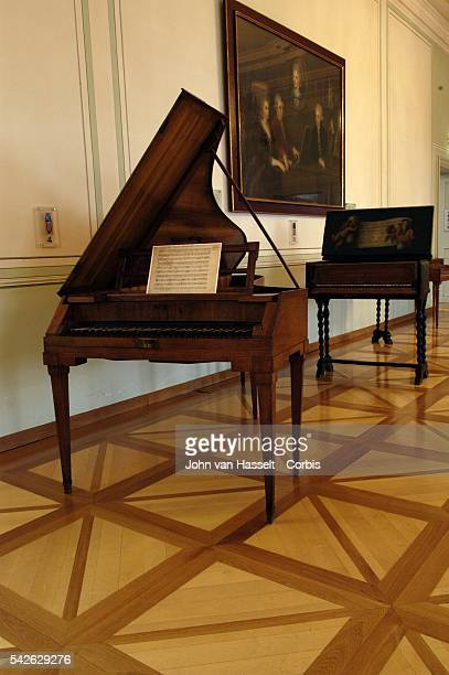 Mozart's piano forte housed in the Museum was made by Anton Walter in Vienna circa 1780 Mozart used this instrument for the many concerts he gave in...