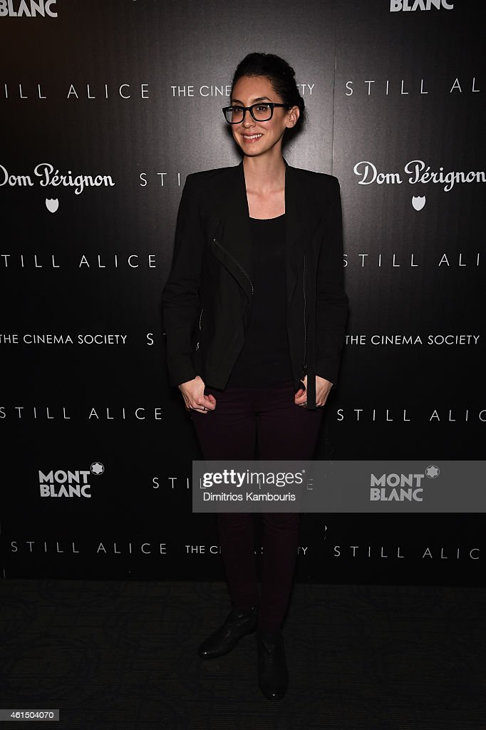 Mozhan Marno attends The Cinema Society with Montblanc and Dom Perignon screening of Sony Pictures Classics' 'Still Alice' at Landmark's Sunshine Cinema on January 13, 2015 in New York City.