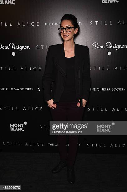 Mozhan Marno attends The Cinema Society with Montblanc and Dom Perignon screening of Sony Pictures Classics' Still Alice at Landmark's Sunshine...