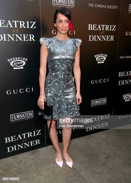 """Mozhan Marno attends the Gucci & The Cinema Society Host A Screening Of Roadside Attractions' """"Beatriz At Dinner"""" at the Metrograph on June 6, 2017..."""