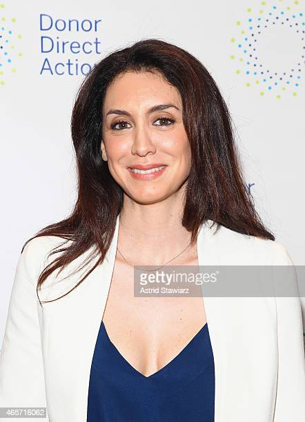 Mozhan Marno of The Blacklist and 'House of Cards' attends the launch party of Donor Direct Action at Ford Foundation on March 9 2015 in New York City