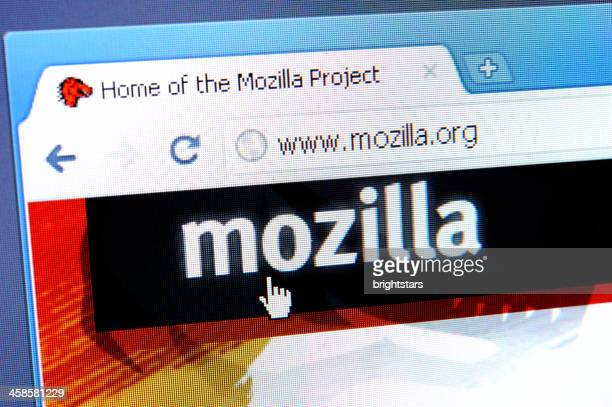 Mozilla web page on the browser
