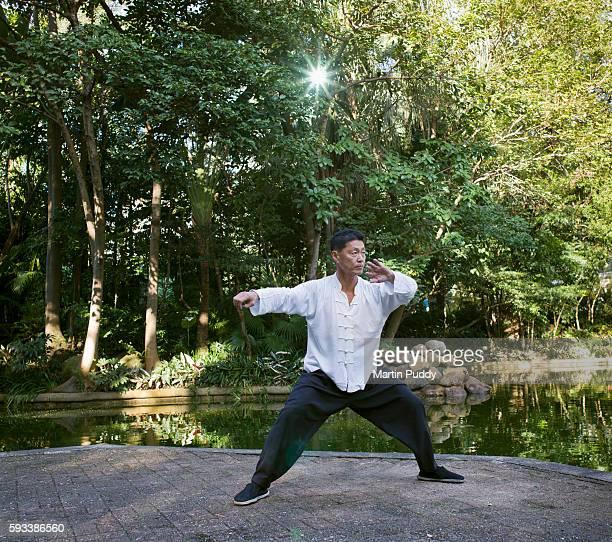 MP25.Man practicing Tai Chi