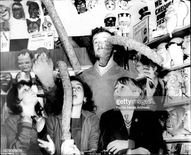 Mr Allan Cook 22 from Magic shop at Oxford Street Darlinghurst demonstrates to pop eyed children some of his favorite tricksIn picture children left...