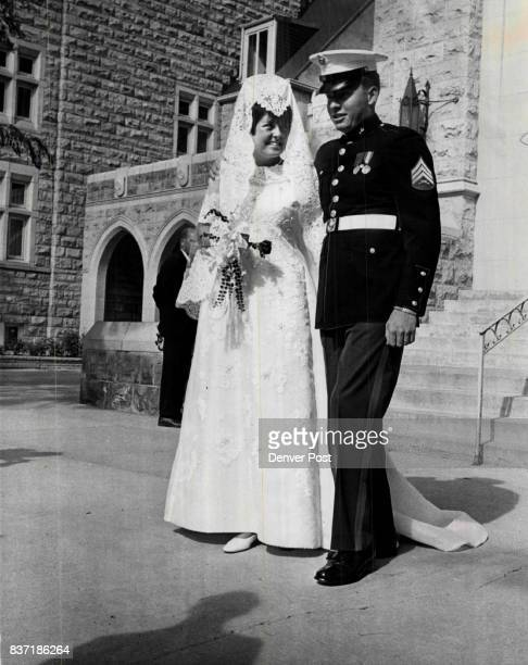 Mr And Mrs Adolph Coors IV Miss Betty Jane McCullough wed Adolph Coors IV in Saturday rites at Montview Boulevard Presbyterian Church Credit Denver...