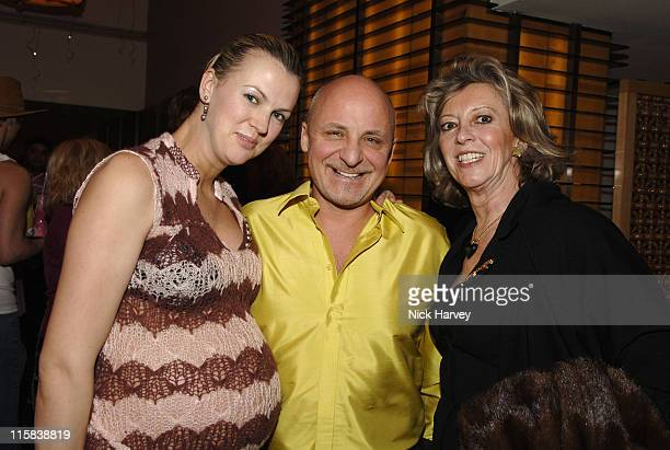 Mr and Mrs Aldo Zilli and MarieClaire Baroness von Alvensleben