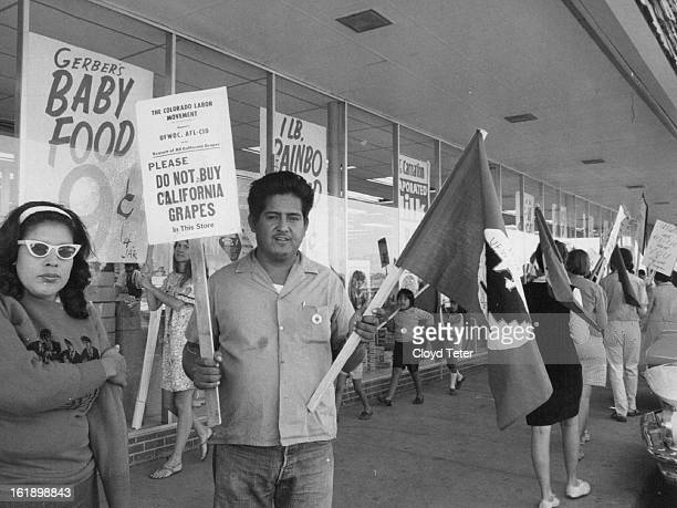 SEP 22 1968 Mr And Mrs Alfredo Herrera Lead Pickets At campaign for California grape boycott