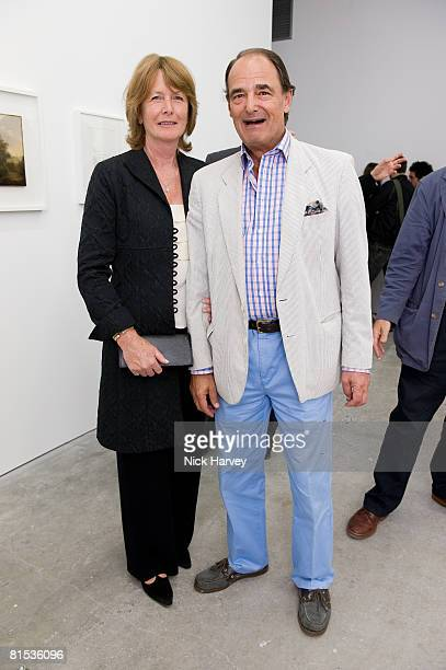 Mr and Mrs Anthony Wigram attend Marine Hugonnier's 'The Secretary of the Invisible' exhibition private view at the Max Wigram Gallery 28 Redchurch...