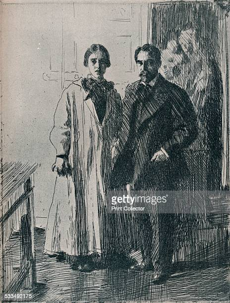Mr and Mrs Atherton Curtis from the etching by Anders Zorn 1906 Atherton Curtis was a wealthy American who lived in France He made his fortune in...