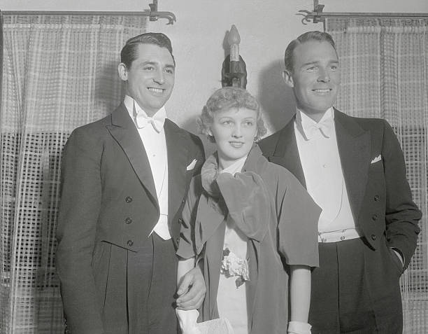 Cary Grant with Virginia Cherrill and Randolph Scott