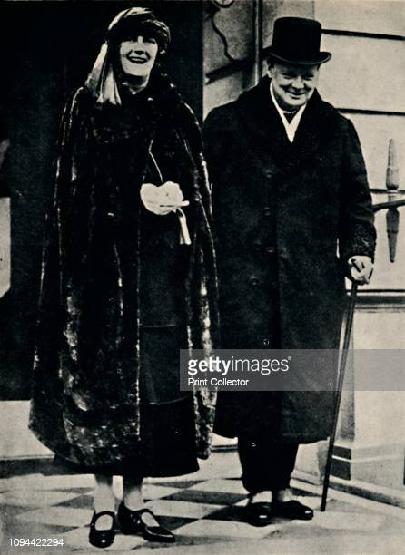 Mr. And Mrs. Churchill in the Early Twenties' . British politician and statesman Sir Winston Churchill and his wife Clementine . Churchill was Prime...