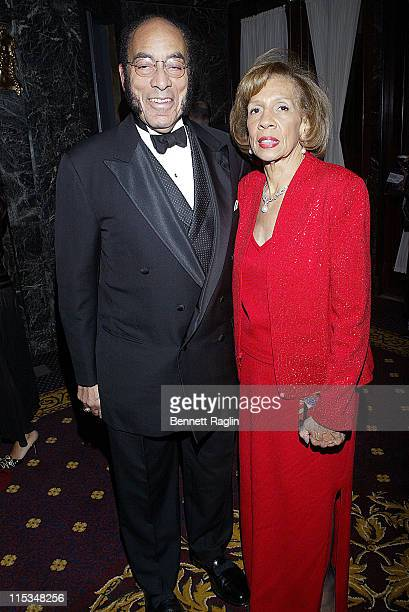 Mr and Mrs Earl Graves during Evidence Dance Company Winter Gala February 6 2006 at The Hudson TheaterMillenium Hotel in New York City New York...