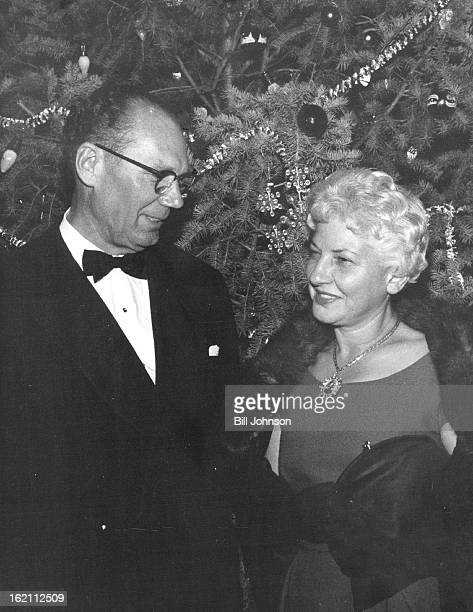 DEC 3 1959 DEC 4 1959 DEC 5 1959 Mr and Mrs George Saunders were among the week's playgoers at Bonfils Memorial Theater for Sailor Beware A huge...