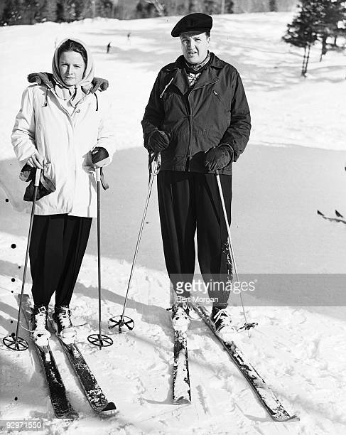 Mr and Mrs Henry Ford II on a skiing excursion December 1946