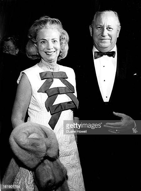 MAR 31 1966 APR 1 1966 Mr and Mrs James English Playgoing twosome stops for a chat at intermission of the Bonfils Theatre fifth production opening...