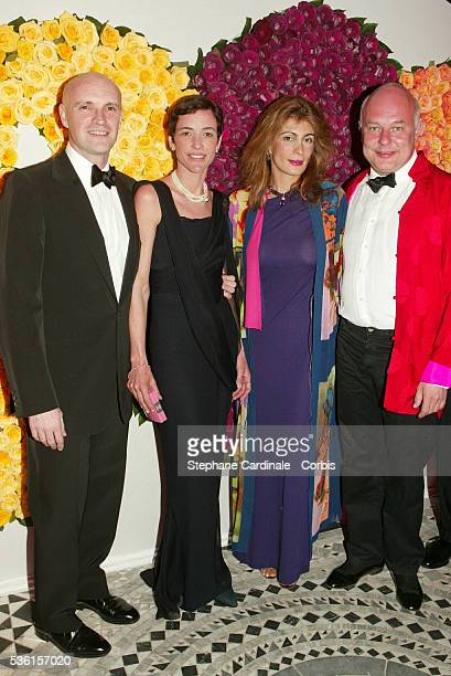Mr and Mrs Jean Christophe Maillot and Mr and Mrs Rolph Sachs attend the Rose Ball 2002 charity evening