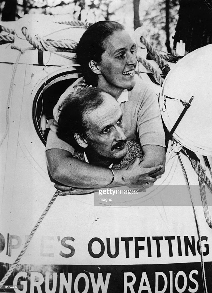 Mr. and Mrs. Jean-Felix and Jeannette Piccard after one of her ballooning in the stratosphere. About 1933. Photograph. (Photo by Imagno/Getty Images) Das Ehepaar Jean-Felix und Jeannette Piccard nach einem ihrer Ballonfahrten in der Stratosphäre. Um 1933. Photographie.