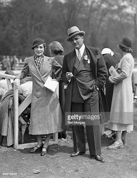 Mr and Mrs John V Bouvier III at a horse show at the Rockwood Hall Country Club Sleepy Hollow Westchester County New York c1934 They are the parents...