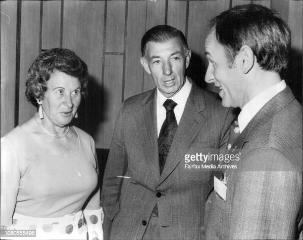 Mr and Mrs Jones talking to American Astronaut Alan BeanFederal Minister for Transport Mr Charles Jones and Mrs Jones attended The 67th General...