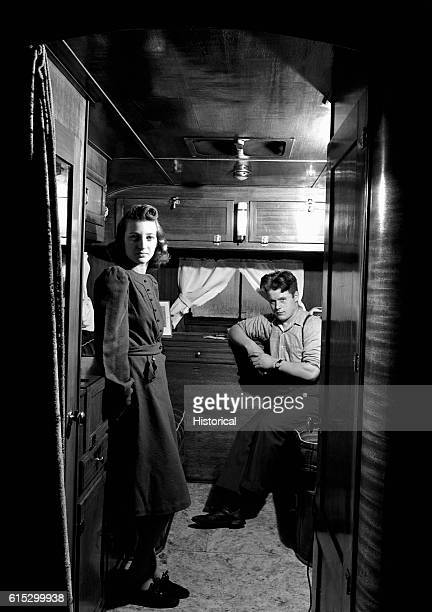 Mr and Mrs Leslie Bryant in their trailer two miles outside of Bath Maine They live in a trailer because they could not rent a house in town December...