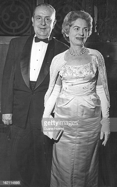 JAN 9 1961 JAN 10 1964 SUNDAY IN NEW YORK ATTRACTS GAY CROWD Mr and Mrs Milton Stenseth arrive at Bonfils Theater for the opening of Sunday in New...