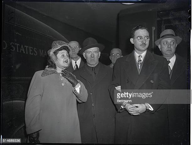 Mr and Mrs rosenberg with Officials Undated Photo