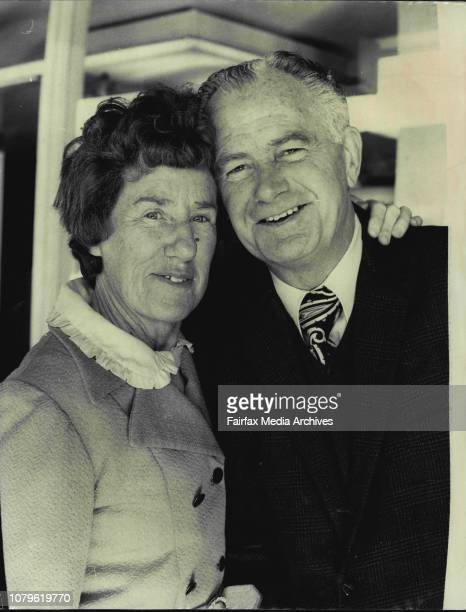Mr and Mrs S Braham of Adelaide parents of Christine Braham a crew member of the Sospan Fach which was wrecked on Middleton Reef picture at Sydney...