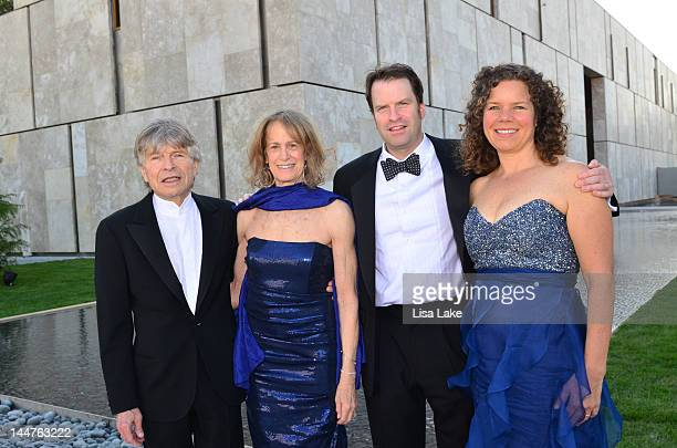 Mr and Mrs Sheldon Bonovitz ChrisDunn and Kate Dunn attend the Barnes Foundation opening gala and inaugural celebration on May 18 2012 in...