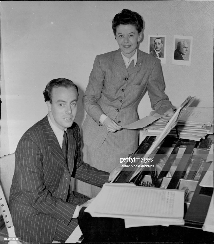 Mr. and Mrs. Stanley Bate Brit. Composer. : News Photo
