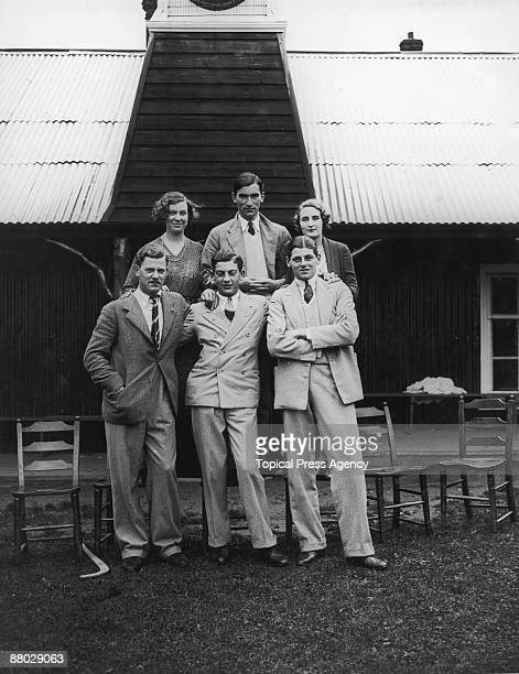 Mr and Mrs Torrens and guests at a cricket party at their house in Limpsfield Surrey 23rd August 1930