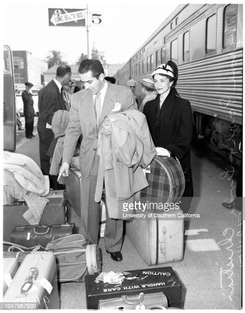 Mr and Mrs Tyrone Power arrival May 24 1951 Tyrone PowerLinda Christiansan More descriptive information with originals