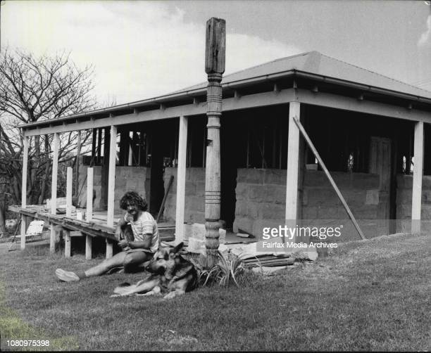 Mr. Arnott working on his house at 36 Laurel Rd Ingleside.Mr. Trevor Arnott and his house which he is rebuilding after being burnt out at Christmas....