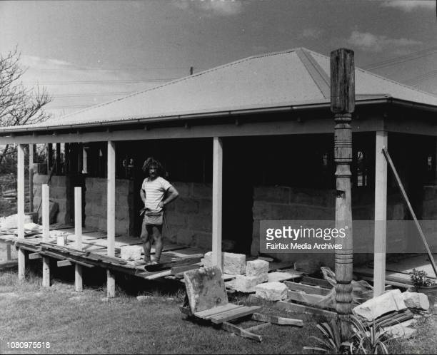 Mr. Arnott working on his house at 36 Laurel Rd Ingleside.Mr. Trevor Arnott and his house which he is rebuilding afte3r being burnt out at Christmas....