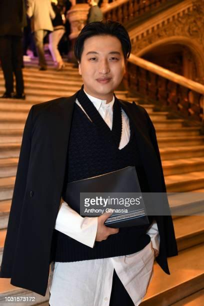 PARIS FRANCE SEPTEMBER Mr Bags attends Longchamp 70th Anniversary Celebration at Opera Garnier on September 11 2018 in Paris France