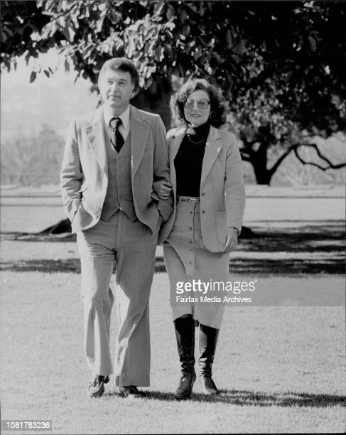 Mr Bill Thomas and his fiancee Miss Sharon Scoggins at the Royal Botanic Gardens today Mr Thomas is from the US and is giving lectures on mental...