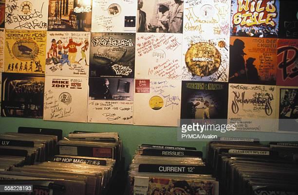 Mr Bongo record store Poland street Soho London UK 1990s