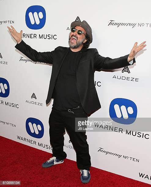 Mr Brainwash attends Warner Music Group's annual Grammy celebration at Milk Studios Los Angeles on February 15 2016 in Los Angeles California