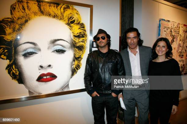 Mr Brainwash Eric Allouche and Kim Allouche attend Opening night of Nimbus Vapor at OPERA GALLERY at Opera Gallery on October 1 2009 in New York City