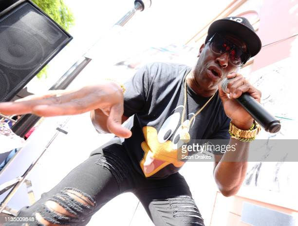 Mr Bryan of Villa Clara Cuba performs at Cubaocho during the annual Calle Ocho Festival in the Little Havana community on March 10 2019 in Miami...