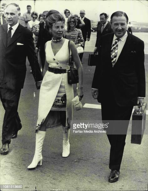 Mr BS Inglis and Mr and Mrs Henry Ford IIHenry Ford II and his wife today arrived at Mascot Airport by Private planeMr Ford was greeted by Mr BS...